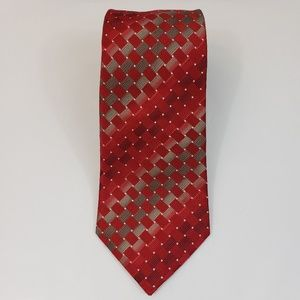 """Kenneth Cole Reaction Red Neck Tie 58"""" L 3.5"""" W"""